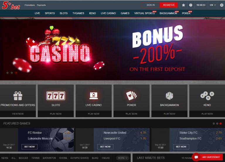 5 bet казино бонус test
