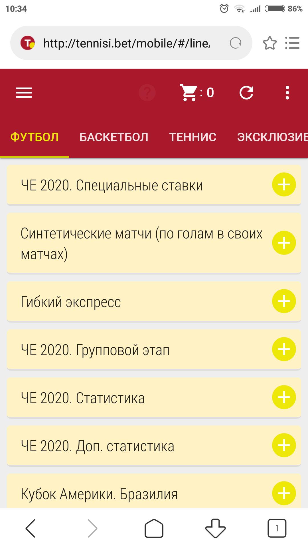 Оформление главной страницы Теннисибет